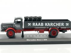 Mercedes-Benz L-325 Raab Karcher con carico scuro grigio / rosso 1:43 Ixo