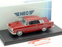 Opel Kapitän P 2,6 coupe Autenrieth year 1963 dark red 1:43 Neo