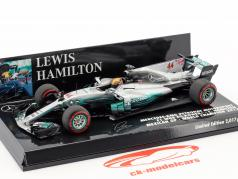 Lewis Hamilton Mercedes F1 W08 EQ Power  #44 Mexican GP champion du monde Formel 1 2017 1:43 Minichamps