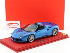 Ferrari 488 Spider IAA Frankfurt 2015 blue metallic With Showcase 1:18 BBR