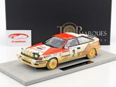 Toyota ST 165 MC Dirty version #2 Winner Rallye Monte Carlo 1991 Sainz, Moya 1:18 TopMarques