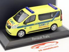 Renault Trafic SAMU Baujahr 2014 gelb / blau 1:43 Norev