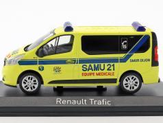 Renault Trafic SAMU year 2014 yellow / blue 1:43 Norev