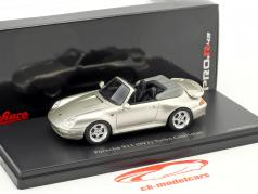 Porsche 911 (993) Turbo Cabriolet silbergrau metallic 1:43 Schuco