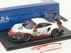 Porsche 911 RSR #91 24h LeMans 2017 Lietz, Makowiecki, Pilet 1:43 Spark