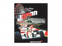 McLaren Greetings from Japan Ayrton Senna F1 1993 T-shirt black