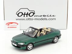 Peugeot 306 Cabriolet Roland Garros year 1999 green metallic 1:18 OttOmobile