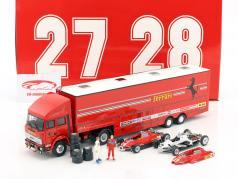 Set courses transporteur Fiat Iveco 190 et Ferrari 126C2 Plus #27, #28 San Marino GP F1 1982 1:43 Brumm