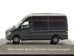 Mercedes-Benz Sprinter furgone tenorite grigio metallico 1:87 Herpa