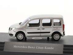 Mercedes-Benz Citan Kombi brillante argento metallico 1:87 busch