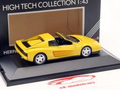 3-Car set Ferrari 348 TS, F40 & Testarossa Spyder giallo 1:43 Herpa