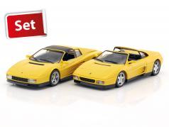2-Car Set Ferrari 348 TS & Ferrari Testarossa Spyder gelb 1:43 Herpa