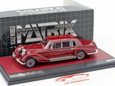 Mercedes-Benz 600 (W100) Buchmann & Buchmann year 1980 dark red 1:43 Matrix