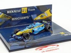 Jarno Trulli Renault R24 Engine RS24 #7 formula 1 2004 1:43 Minichamps