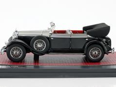 Mercedes-Benz 770K (W07) Cabriolet D year 1930 black / silver metallic 1:43 Matrix