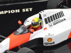 Ayrton Senna 2-Car set McLaren MP4/5B, MP4/6 World Champion formula 1 1990/1991 1:43 Minichamps