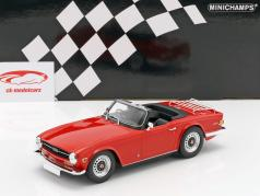 Triumph TR6 Roadster RHD year 1969 red 1:18 Minichamps