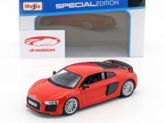 Audi R8 V10 Plus rot / schwarz 1:24 Maisto