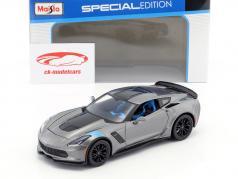 Chevrolet Corvette Grand Sport Baujahr 2017 grau / schwarz 1:24 Maisto