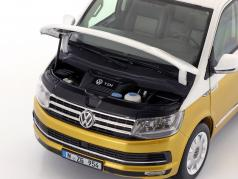 Volkswagen VW T6 Multivan 70 years Bulli  white / kurkuma yellow 1:18 NZG