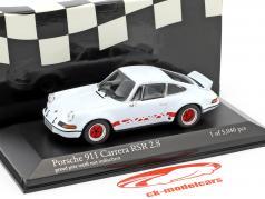 Porsche 911 Carrera RSR 2.8 year 1973 grandprix white / guards red 1:43 Minichamps