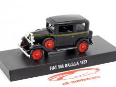 Fiat 508 Balilla Baujahr 1932 schwarz 1:43 Altaya