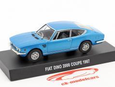 Fiat Dino 2000 coupe anno di costruzione 1967 blu metallico 1:43 Altaya