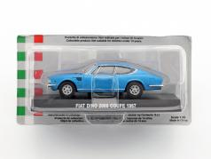 Fiat Dino 2000 coupe year 1967 blue metallic 1:43 Altaya