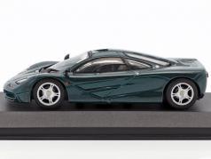 McLaren F1 roadcar green metallic 1:43 Minichamps