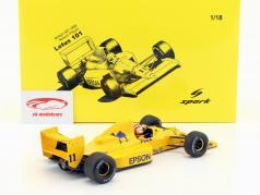 Nelson Piquet Lotus 101 #11 britânico GP fórmula 1 1989 1:18 Spark