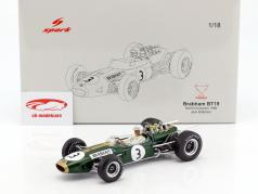Jack Brabham Brabham BT19 #3 World Champion Formel 1 1966 1:18 Spark