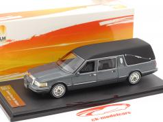 Lincoln Town Car Hearse year 1997 grey metallic 1:43 GLM