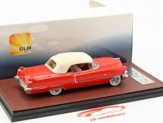 Cadillac Series 62 Convertible Closed Top Baujahr 1956 rot / weiß 1:43 GLM