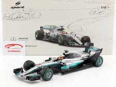 Lewis Hamilton Mercedes F1 W08 EQ Power+ #44 Sieger China GP Weltmeister Formel 1 2017 1:18 Spark