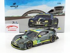 Aston Martin Vantage GTE #97 Winner LMGTE Pro class 24h LeMans 2017 Turner, Adam, Serra 1:18 Spark