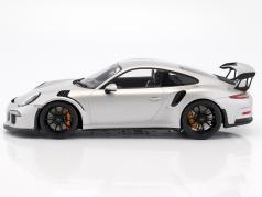 Porsche 911 (991) GT3 RS Baujahr 2016 silber 1:12 Spark