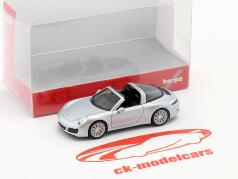 Porsche 911 (991) Targa 4S argent 1:87 Herpa