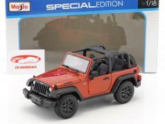 Jeep Wrangler Willys année de construction 2014 cuivre métallique 1:18 Maisto