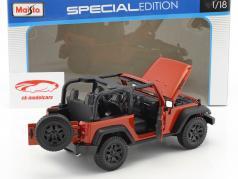 Jeep Wrangler Willys anno di costruzione 2014 rame metallico 1:18 Maisto