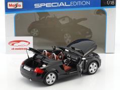 Audi TT Roadster anno di costruzione 1999 nero 1:18 Maisto
