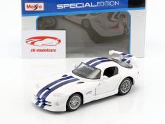 Dodge Viper GT2 bianco / blu 1:24 Maisto