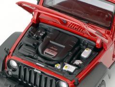 Jeep Wrangler Willys année de construction 2014 rouge / noir 1:18 Maisto