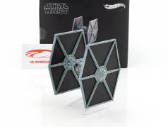 Tie Fighter Star Wars V The Empire strikes back (1980) nero / argento blu 1:18 HotWheels Elite