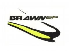 Jenson Button #22 Brawn GP fórmula 1 2009 T-Shirt branco
