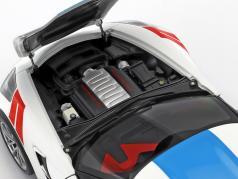 Chevrolet Corvette C7 Grand Sport anno di costruzione 2017 bianco con blu strisce 1:18 AUTOart