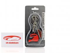 Michael Schumacher Porte-clefs casque rouge