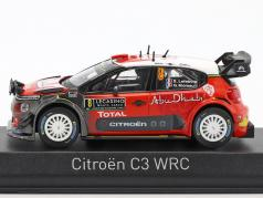 Citroen C3 WRC #8 Rally Monte Carlo 2017 Lefebvre, Moreau 1:43 Norev