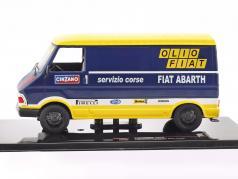 Fiat 242 E Rallye Assistance Olio Fiat year 1976 blue / yellow / white 1:43 Ixo