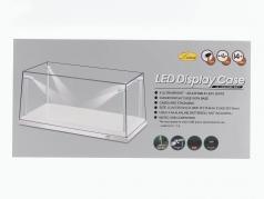 Singolo vetrina bianco con 4 Led Lampade per modelcars in scala 1:18 Triple9