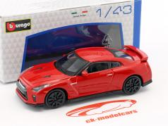 Nissan GT-R year 2017 red 1:43 Bburago